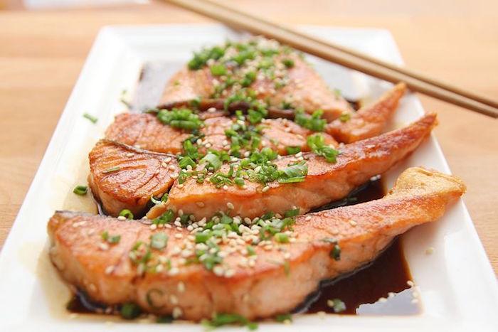 Le poisson dans le régime low carb.
